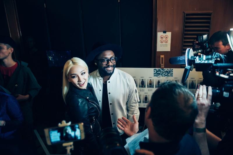 CL and Will.i.am (PRNewsFoto/MCM)
