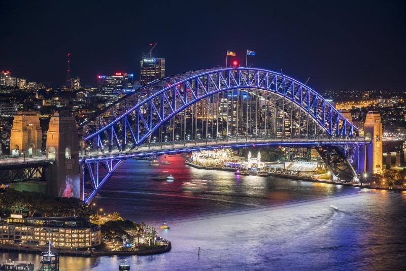 Vivid Sydney 2016 - Circular Quay AMP Dress Circle CREDIT Destination NSW (PRNewsFoto/Destination NSW)